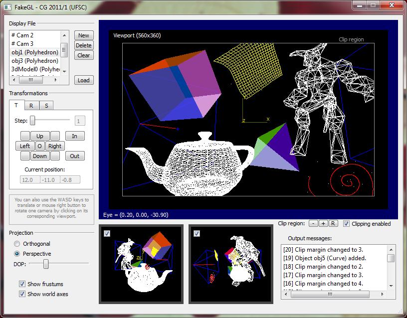 Sistema Gráfico Interativo desenvolvido pelo aluno Marco S. Souza (2011.1)