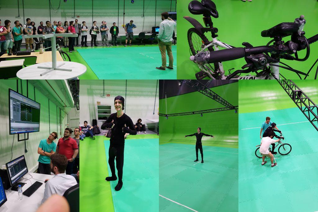 Aula de Motion Capture com Bicicleta para a t…
