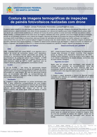 Visão Computacional -Poster costura de imagens termográficas de painéis fotovoltaicos