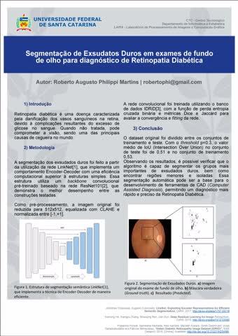 Visão Computacional - Poster retinopatia diabética - Roberto Augusto Philippi Martins